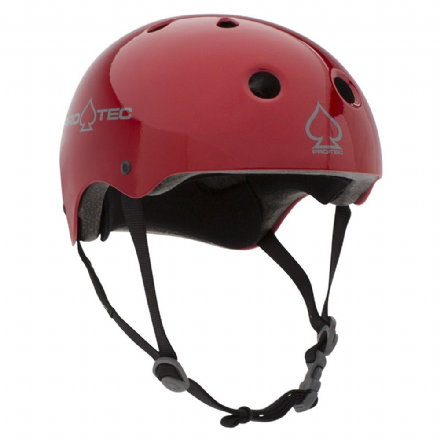 Pro-Tec Classic Certified Helmet Red Metal Flake Medium